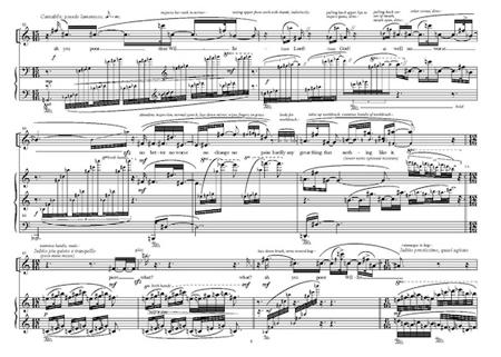 """Una pagina dello spartito di William Osborne per la trasposizione musicale di """"Giorni felici"""""""